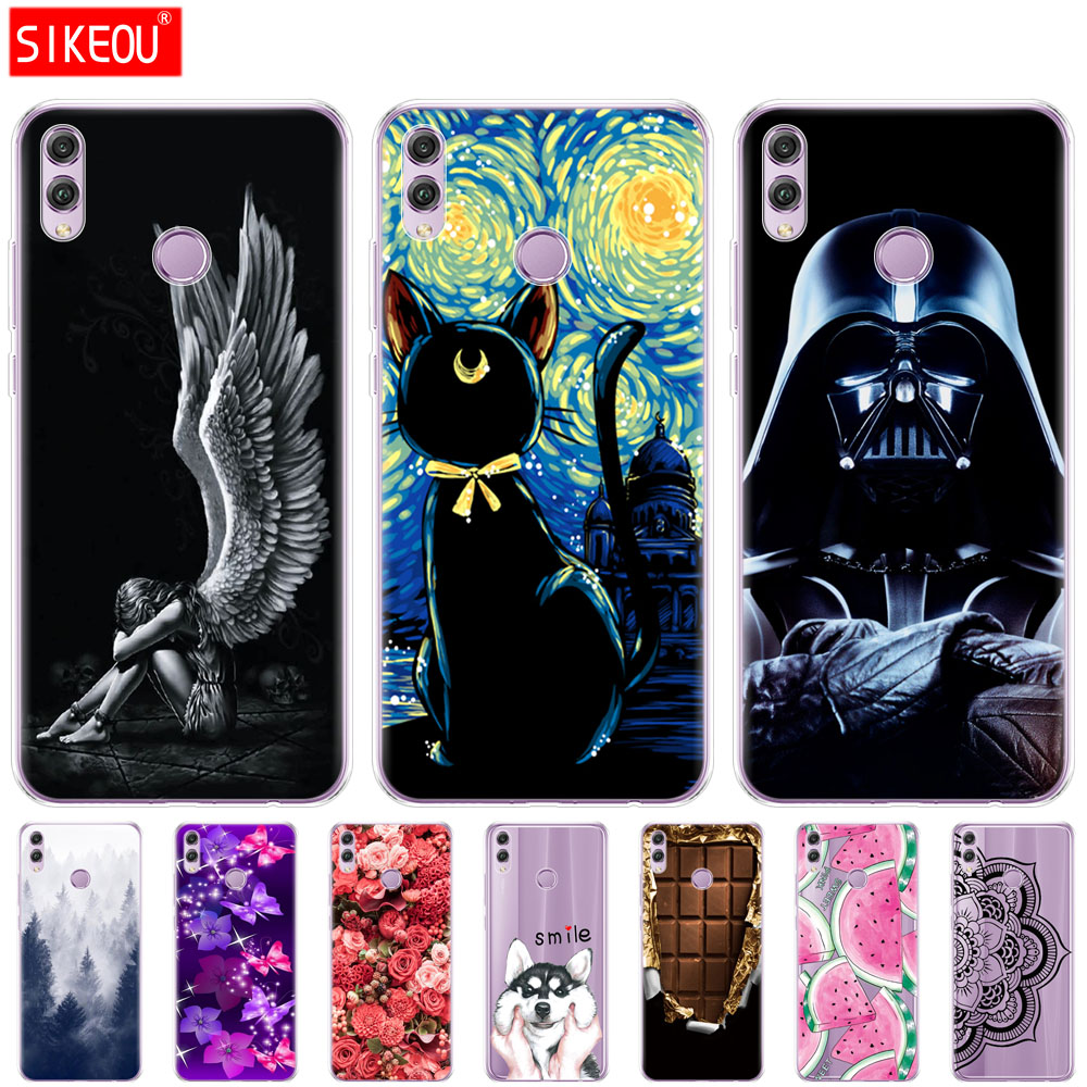 Silicone Case For Huawei Honor 8x Case 6.5 Inch Soft TPU Back Phone Cover For Huawei Honor 8x Protect Shell Coque Bags Printing