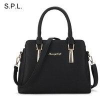S.P.L. marke 2017 neue tasche shell trendy fashion shoudler tasche frauen handtasche OL einfache ledertasche messenger