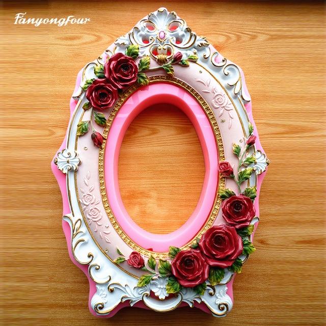Rosa flor Marcos pastel Fiesta de la boda DIY del caramelo de ...