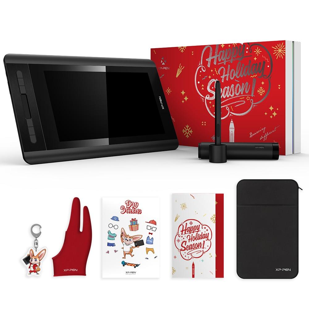 XP-Penna Artista 12 di Disegno Tablet Monitor pacchetto Di Natale regalo 1920X1080 Scheda Grafica con Tasti di Scelta Rapida e Touch pad