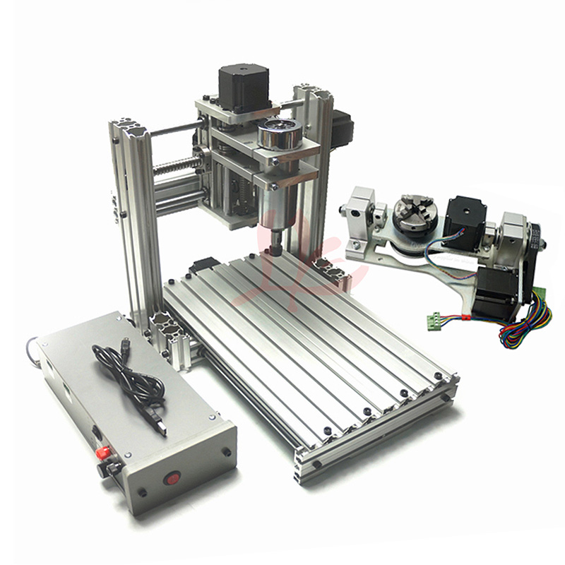 DIY MINI CNC 4020 Metal Engraving Machine With 400X200mm Working Size PCB Drilling With Cutter Collet Clamp