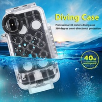 For iPhone X 40m/130ft Professional Waterproof Diving Protective Housing Photo Video Underwater Cover Case For iPhone 7 8Plus