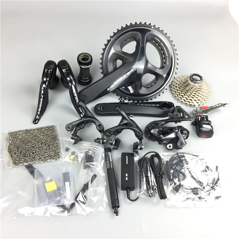 Shimano R8050 groupsets Ultegra R8000 DI2 TT Road Bike Groupset 170 172 5 175mm 50 34