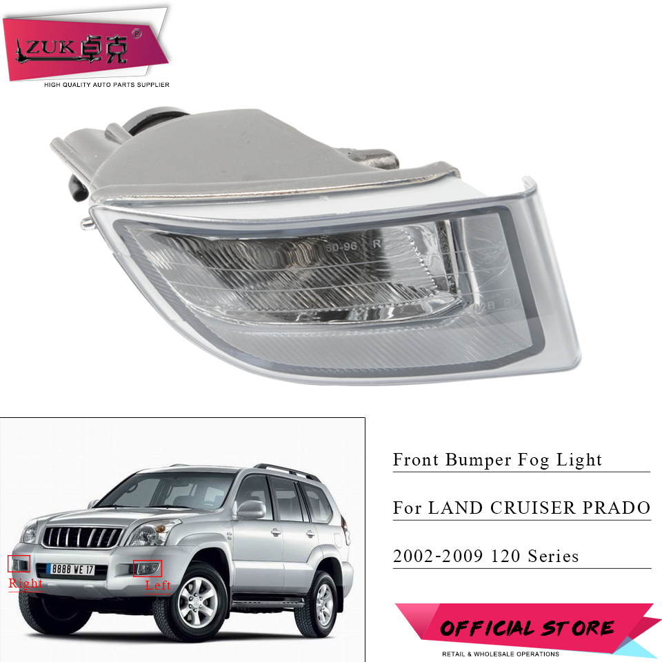 ZUK For <font><b>TOYOTA</b></font> <font><b>LAND</b></font> <font><b>CRUISER</b></font> <font><b>PRADO</b></font> <font><b>120</b></font> Series 2700 4000 LC120 2002 2003 2004 2005 <font><b>2006</b></font> 2007 2008 2009 Front Fog Light Fog Lamp image