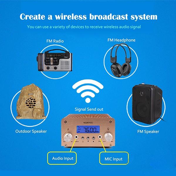 Hot 5W15W PLL Stereo FM Transmitter Radio  (10)