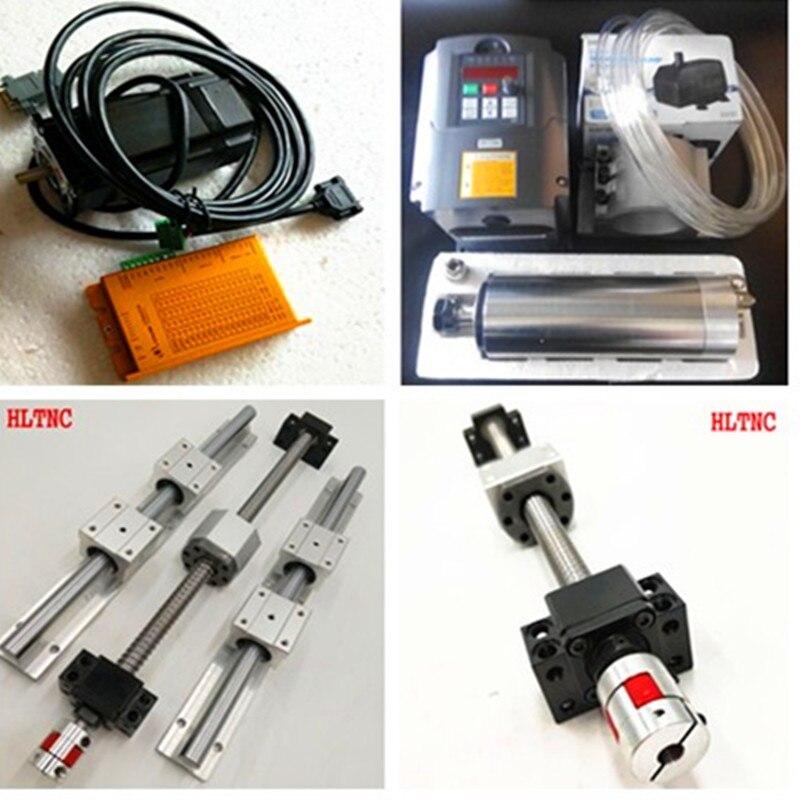 SBR16linear rails+ballscrews SFU1605-1500/1500/600mm+2.2kw220vspindle motor+nema23 servo Closed loop stepper LCDA357HLC57H3100 gastrorag hlc 600