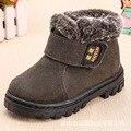 AFDSWG/зимние ботинки для детей; толстые теплые плюшевые черные детские ботинки; красные кожаные ботинки для девочек; martens; зеленые зимние боти...