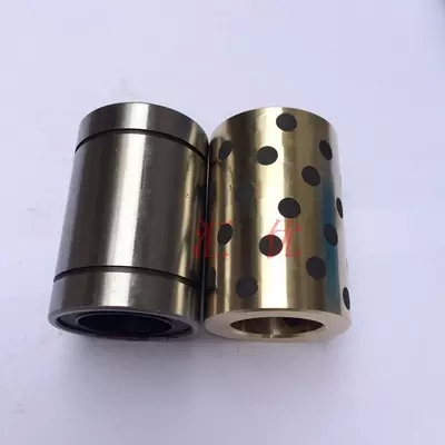 JDB 406080 copper sleeve the same size of LM40 linear Solid inlay graphite Self-lubricating bearing lm40uu solid inlay graphite self lubricating linear bearings bushings without oil graphite copper sleeve 40 60 80
