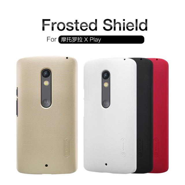 super popular 82d2a dabee US $7.57 |NILLKIN Super Frosted Shield hard back cover case for MOTO X Play  with free screen protector and Retail package on Aliexpress.com | Alibaba  ...