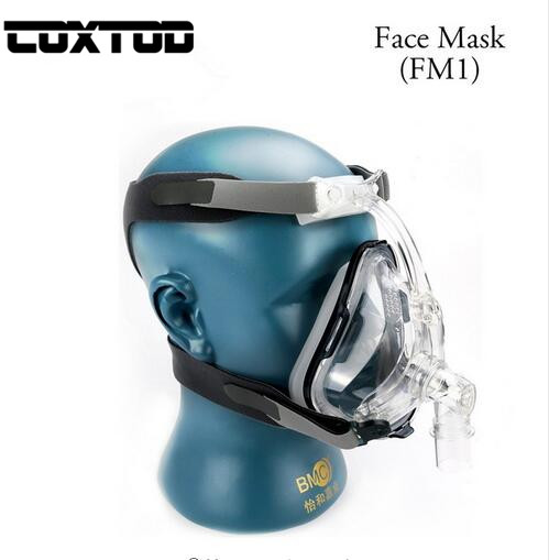 COXTOD FM1 Full Face Mask For Mouth Sleep Breath With Headgrear Size(S/M/L) CPAP Machine Mask
