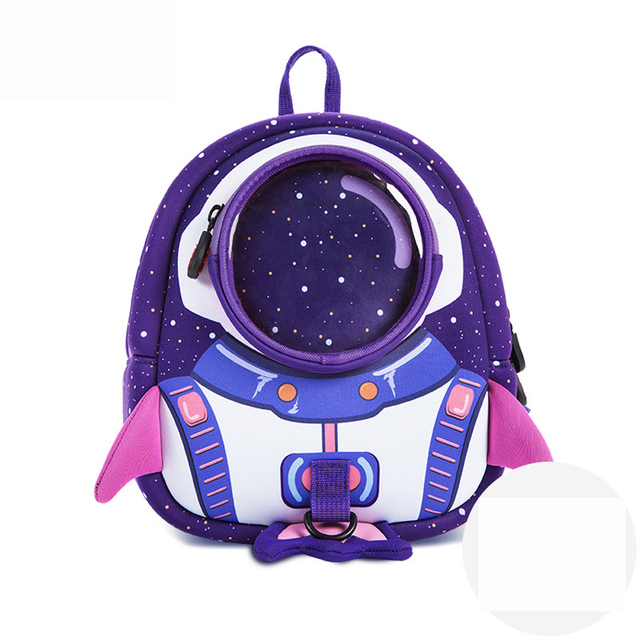 3D High quality Toddler Kids mini Backpack children backpack mochila shool  bag kids Rocket Space Cartoon Boys And Girls
