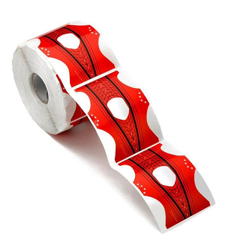 profissional 300 pcs vermelho prego forma dicas para extensao do guia da arte do prego frances