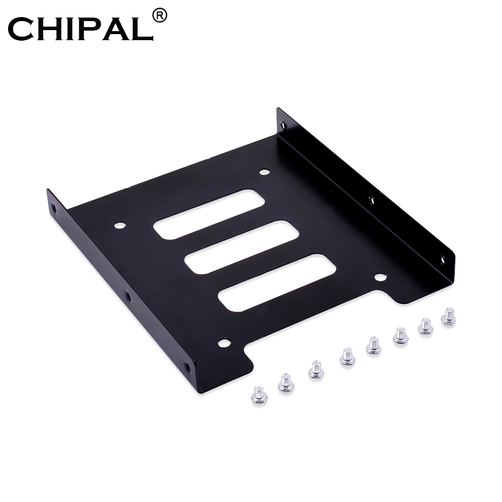 Chipal 2,5 Zoll Ssd Hdd Zu 3,5 Zoll Metall Montage Adapter Bracket Dock 8 Schrauben Festplatte Halter Für Pc Festplatte Gehäuse Hdd Gehäuse