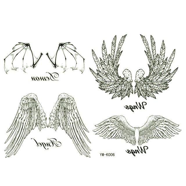Alas De ángel Impermeable Tatuajes Temporales Pegatinas Hombres Y