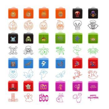 BESTOMZ sello de Halloween para niños sellos de autotinta 24 diseños ...