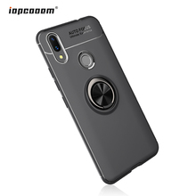 цены Phone Case For Huawei Nova 3i Case Rotating Finger Ring Holder Matte Soft Silicone Back Cover For Huawei P Smart Plus Coque