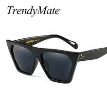 2017 Nuevas Mujeres Del Diseñador de la Marca gafas de Sol de la Mujer Retro gafas de Sol de La Vendimia Clase gafas de Ojo de Gato Gafas de Sol Masculino Gafas de Mujer 1054 T