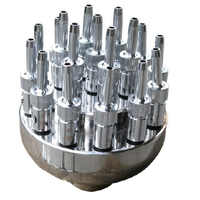 1 dn25 stainless steel adjustable flowers spray nozzle fountain water features nozzle