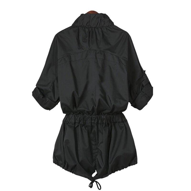 2015 Осень Стиль Дамы Однобортный Длинную Траншею Slim Черный С Длинным Рукавом Карманы женская Пиджаки Пальто Для Женщин Xxxxl