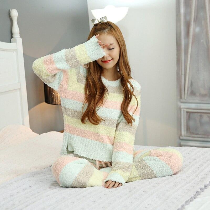 Pyjamas Kids Fleece Children Pajamas for Girls Warm Coat+pants Flannel Girls Sleepwear Kids Loungewear Coral Homewear 12-16Y 2016 new year girls mickey pajamas suit for 2 7years children nightgown pyjamas kids hello kitty minnie christmas pijamas