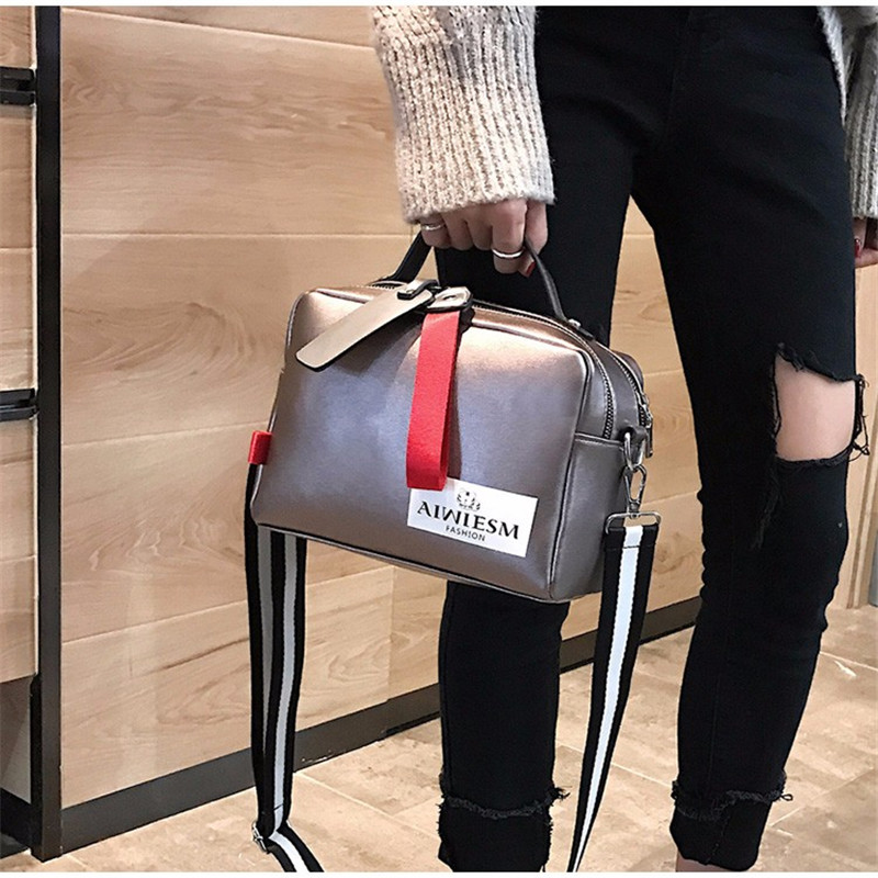 Image 5 - Large capacity luxury handbags women bags designer Double zipper solid color bags women hot sale bag female 2019 black women's-in Shoulder Bags from Luggage & Bags