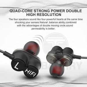 Image 3 - Tebaurry tb6 unidade dupla driver fone de ouvido com fio de alta fidelidade estéreo para o telefone iphone 4 alto falantes super bass fone com microfone