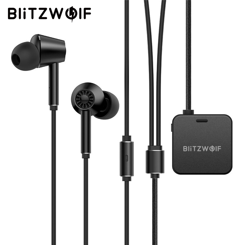 BlitzWolf ANC Wireless bluetooth Earphone In Ear Earbuds Headset Active Noise Cancellation Hi Fi Stereo Earphones