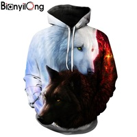 Wolf Printed Hoodies Men 3d Hoodies Brand Sweatshirts Boy Jackets Quality Pullover Fashion Tracksuits Animal Streetwear