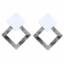 Japanese and Korean Fashion Simple New Style Exaggerated Temperament Geometry Long Acrylic Earrings Wedding Party Gift In 2019