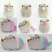 2016 Kawaii Brinquedos New Pusheen Cat Cookie Icecream & Doughnut Mermaid unicorn 5Styles Stuffed & Plush Animals Toys for Girls