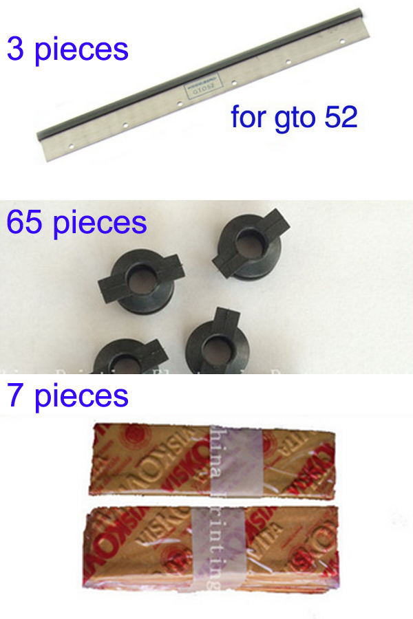 все цены на  3 piece gto52 wash up blade, 65 pieces rubber sucker, 7 pieces Compressed sponge  онлайн