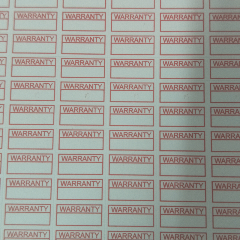 Various Pack Sizes Available 15mm Square 12 Month Warranty Stickers Labels