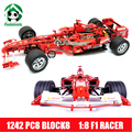Super gran 24 pulgadas decool building blocks 1242 unids 1: 8 famoso coche de carreras modelos de construcción ladrillos compatibles con lego technic