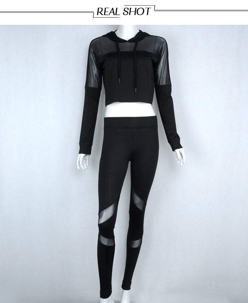 Mesh Patchwork Tracksuit Women is made with soft stretch fabric to help keep you comfortable and moving freely all day.