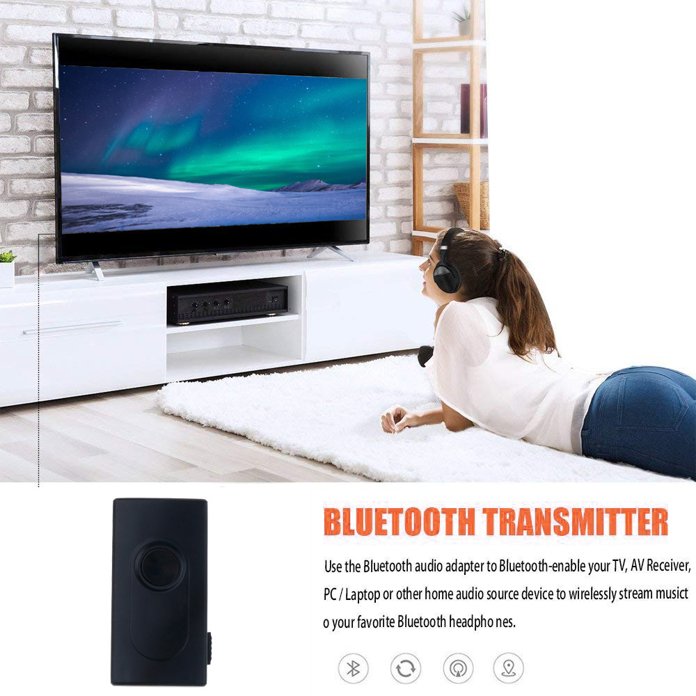 2 in 1 Bluetooth Transmitter Receiver Stereo Wireless Music Adapter With 3.5mm Audio Cable USB Cable for TV DVD Mp3 PC