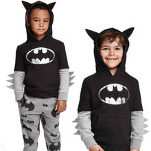 Toddler Child Children Boy Cotton Lengthy sleeves Cartoon Batman Prime Sweatshirt Hoodies Pants Trouser Outfit