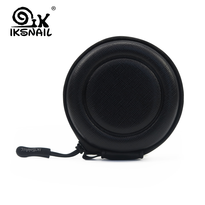 IKSNAIL Case Hard Earphone PU Bags Portable Hold Storage Carrying Bag Box For Headphone Earbuds Memory Card