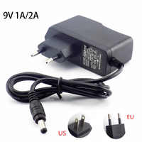 AC to DC 9V volt 1A 2A 2000MA 1000ma Power Adapter switching plug connector Supply adaptor Charger 5.5mmx2.5mm for TV Box router