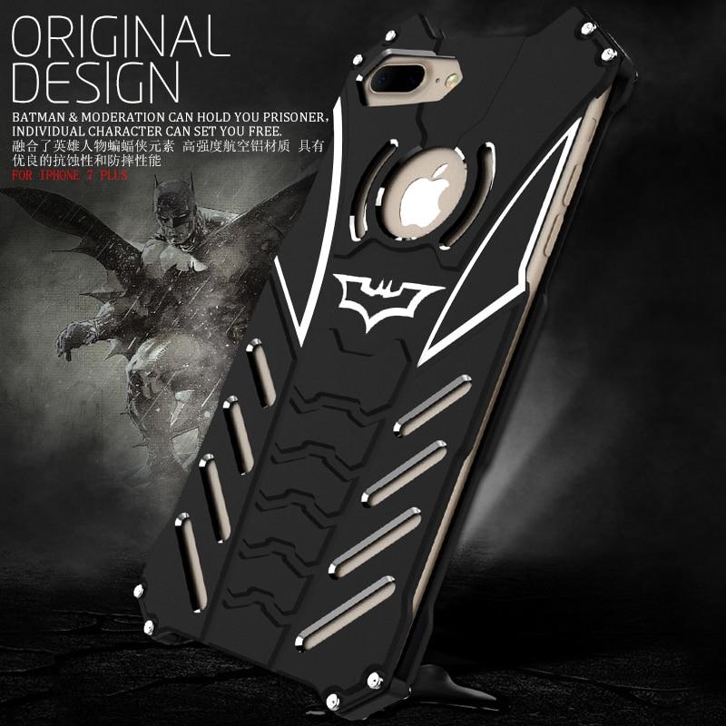 R just Design Metal Aluminum LuxuryTough Armor THOR Batman Phone Case for IPhone7 7 plus Housing Cover