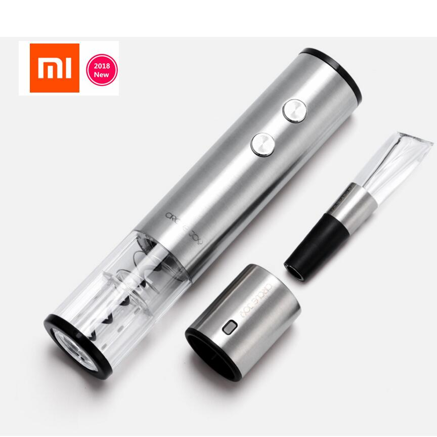XIAOMI Mijia Wine Stopper/ Wine Decanter / Electric Opener Bottle optional Round Stainless Steel Wine Corks smart original gift цена 2017