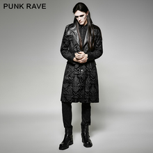Punk Rave Mens Jackets and Coats Rock Streampunk Gothic Gorgeous Pattern Long Jacket Coat Stage Performance Costume