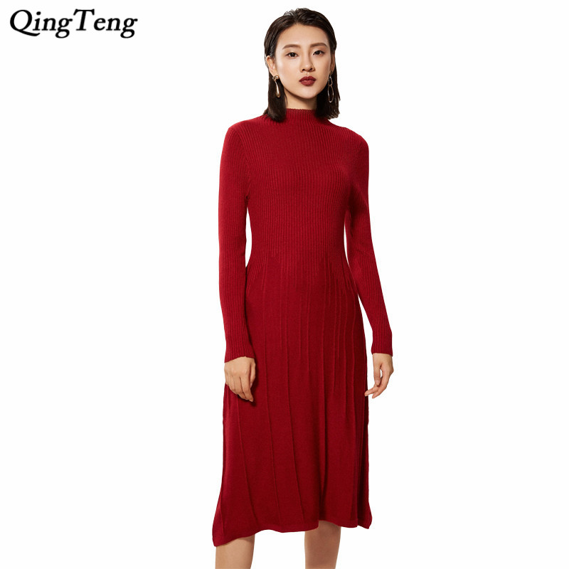 Ginia Cashmere Gowns Wrap Gown: Womens Winter Cashmere Sweaters And Autumn Knitted Dresses