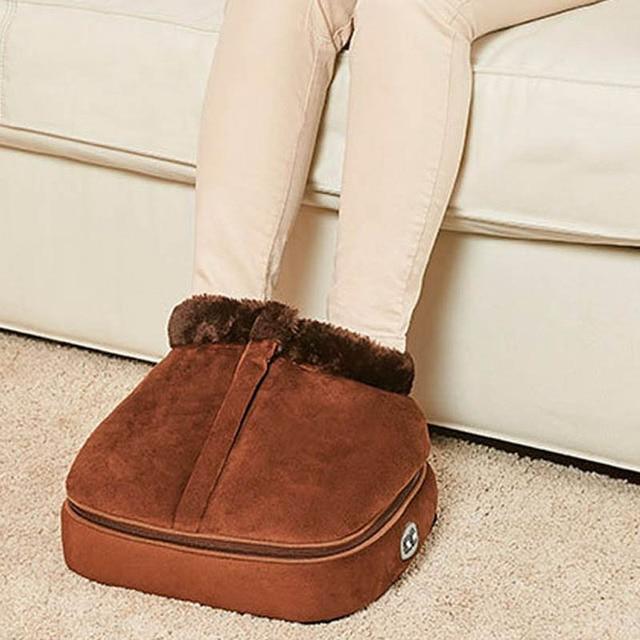 Chaussure de Massage électrique chauffante 2 en 1, accessoire confortable unisexe, chauffant, taille, en velours