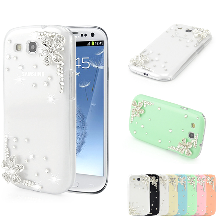 Bling Diamond 3D Flower Hard Back Cover Crystal PC Design Luxury Aluminium Rhinestone Samsung Galaxy S3 i9300 Case - FanTing Technology Co.,Ltd store