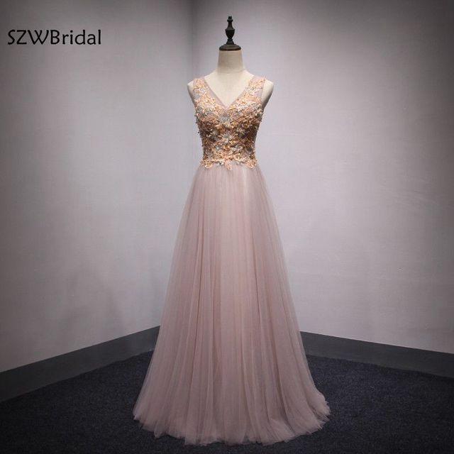 ad8ee5c48a Kiedykolwiek dość różowa suknia wieczorowa 2019 koronki aplikacje formalna  suknia aby Party suknie abiye Avondjurk długie
