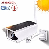 Solar 1080P HD CCTV Security Surveillance IP Camera WI FI Wireless Outdoor IP67 Waterproof Powered Cloud IR P2P Outside Camera