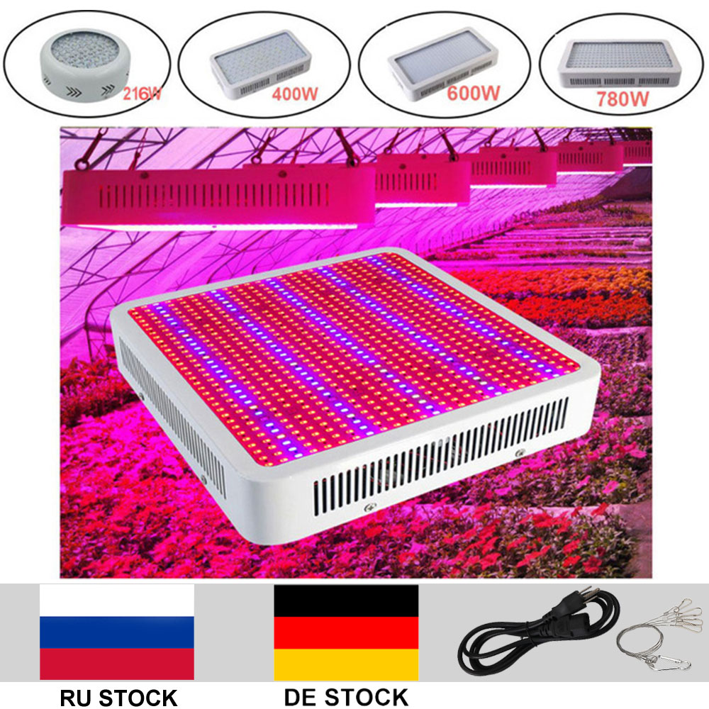Full Spectrum LED Grow light 120W 216W 400W 600W 780W 1200W Led Plant Light For Indoor Plants Vegs Grow Bloom Flowering 4pcs kingled 1200w powerful full spectrum led grow light panel for plants flowering and growing led plant lights