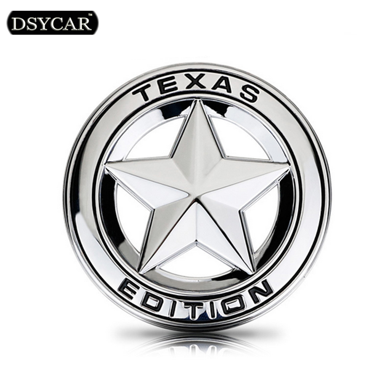 DSYCAR Metal Car sticker logo Emblem Badge Car Styling sticker For Jeep GrandCherokee Wrangler Compass Bmw Fiat Audi car Lada auto chrome camaro letters for 1968 1969 camaro emblem badge sticker