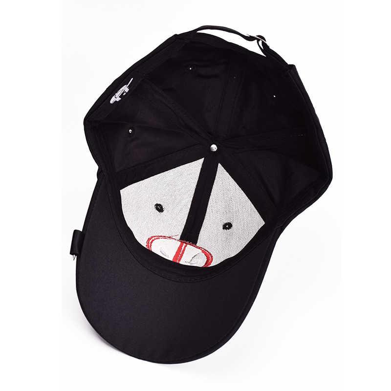2018 Nova Unisex 100% Algodão Cap Gorra Deadpool Planas Bordado Snapback Chapéus de Esportes Ao Ar Livre suprimentos Presente de Aniversário
