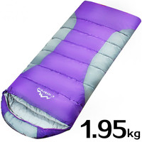 Outdoor camping thick envelope sleeping bag sleeping bag cotton patchwork single person sleeping bags warm and comfortable